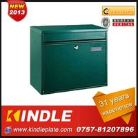 Kindle low cost commercial lockable customized whole sale locking mailbox with 31 years experience