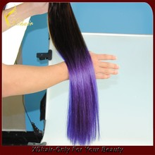 Wholesale virgin remy brazilian hair ombre color pre bonded micro ring loop extension