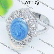 Wholesale fashion china petrified wood engagement ring