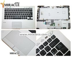 Laptop keyboard for SONY VPC-SB VPC-SD Silver cover+Black key Backlit (With Touch PAD,Fingerprint ) Layout--FR