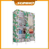 Portable Steel Tube Folding Cotton Cloth Wardrobe