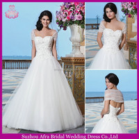 SD2141 cap sleeve puffy tulle skirt bridal gown latest bridal wedding gowns pictures