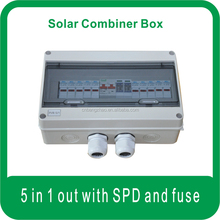 Five Inputs One Output Solar Strings Connect Box with SPD