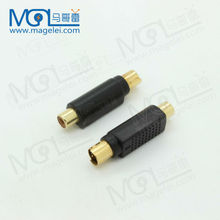 Golden-plated 4pin S-Video male to RCA Female Connector Converter Adapter RCA Female to S-video Male adapter