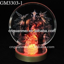 2012 christmas promotion gift decoration with LED light and jesus nativity