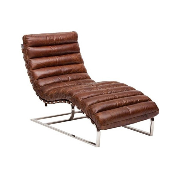 Oviedo chaise in vintage waxy leather coco p007 - Sofas oviedo ...