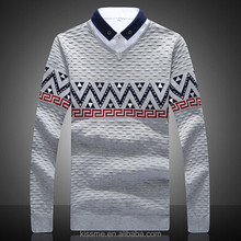 2015 new spring design long-sleeved mens' knitwear