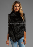 YR-669 Real rabbit fur leather jacket for women/ leather coat