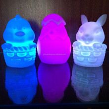 Novelty And Cute color changing LED night light easter bunny toy