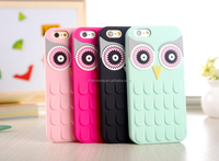 Silicone 3D Cute K SPADE OWL Cartoon Cell Phone Case For IPHONE 5 6 AND 6 PLUS