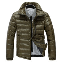 Windproof First Down Coats With High Quality Heavy Winter Coats For Men