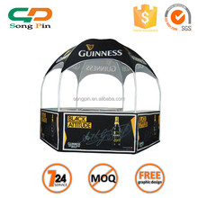wholesale moving tent, hexagon gazebo with table