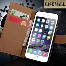 Book Style Classic smooth leather wallet case for iphone 6s ,for iphone 6s wallet case ,for iphone 6s smooth case