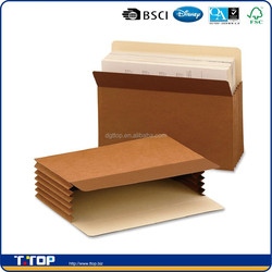 FSC Factory Custom Made Eco Friendly Brown Kraft Paper File Wallets