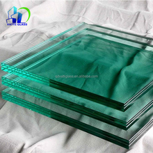 Tempered laminated glass for glass partition