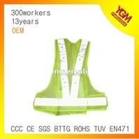 fluo green LED light reflective waist belt