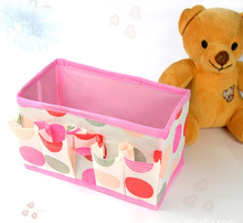 SW Durable fabric foldable storage boxes for car trunk Cartoon Foldable Storage Box
