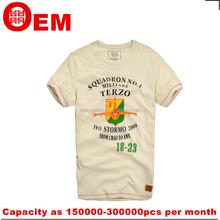 OEM ServiceTShirt Custom 180g Mens Cotton Spandex t-shirt mens models Wholesale