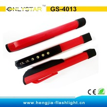 GS-4013 ABS plastic 6 led pen work light with magnet