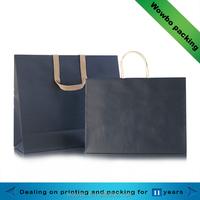black kraft apparel packaging paper bag