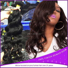 Newness best selling price human weaving peruvian virgin hair natural wavy