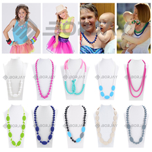 BPA Free Food Grade colorful silicone rosary necklace