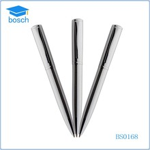 Fashion design ball pen metal ballpoint pen refill cheap silver metal pen