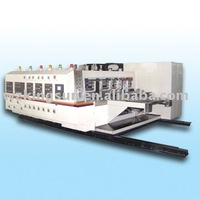 Automatic flexo printing and slotting machine with die cutter(flexo printer slotter)