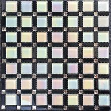 fashion crystal glass wall and floor mosaic tile