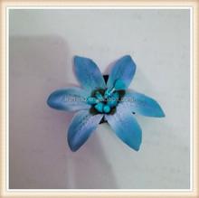 China manufacturer blue fabric flower bridal hair ornament hair clip springs