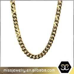 Missjewelry new 14K gold cuban chain design for men