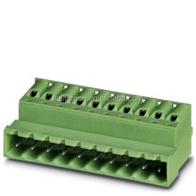 Reverse spring female plug terminal block 5.08mm green PHOENIX