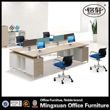 The elegant classical stly 2015 new office 4-seater desk with Screen HSP01-4