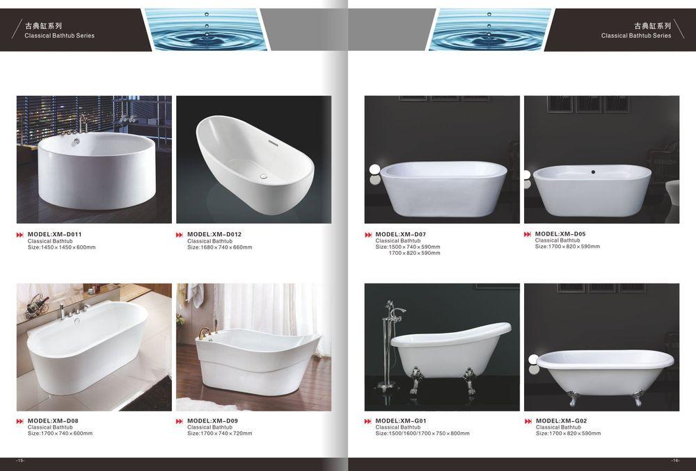 White Acrylic Round Corner Bathtub Small Size,Small Freestanding ...