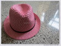 Fashion Design women's red fedora hat