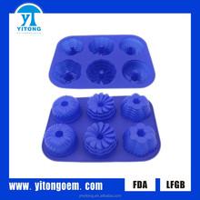 Nuevos productos innovadores lobo en forma de molde de pastel de silicona made in china