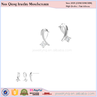 fashionable jewelry new products 2016 diamond dangler 925 silver earrings