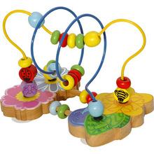 Madera granos de la flor juguete laberinto juguete para niños juguetes educativos