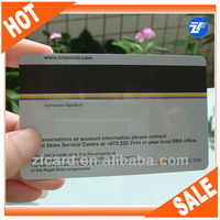 Credit card size magnetic card with signature panel & barcode