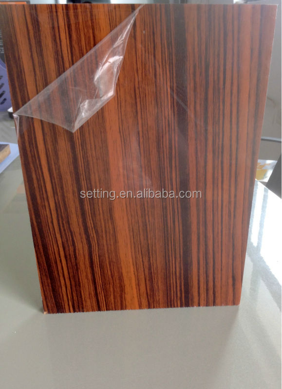 Pvc Material Sheet With Wood Grain Design For Wardrobe