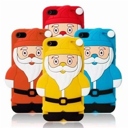 Xmas XChristmas Soft Silicon Back Phone Cover For iPhone 4s 5g