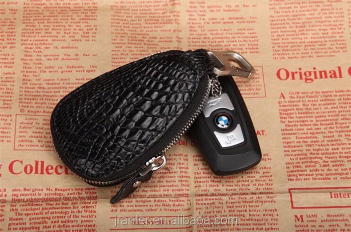 Luxury handmade key case for car genuine crocodile leather car key case for BMW TOYOTA _6