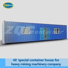 40feet special container house for heavy mining machinery company