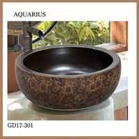 high quality black sanity ware basin for kitchen furniture in china