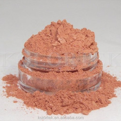 natural orange colour powder fine mica pigment for cosmetic