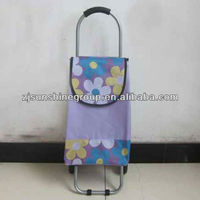 Outdoor easy large volmue folding shopping trolley bag