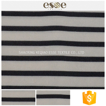 Cheap clothing material T/SP striped soft textile fabric (shaoxing)