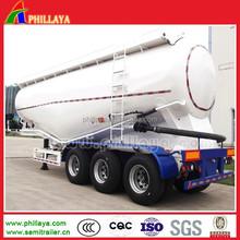 bulk cement tanker semi-trailer /bulk powder tank truck trailer