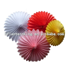 the popular tissue paper fans for wedding or party decoration