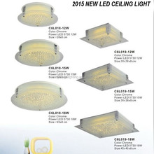 2015 guangzhou international lighting fair led ceiling lighting, square crystal ceiling lighting